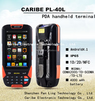 """CARIBE PL-40L AO 007 4"""" IP65 dual core rugged touch screen portable pda smartphone with 3G WIFI"""