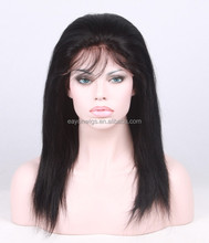 US shipping free pretty 18 inches malaysian hair human hair lace wigs