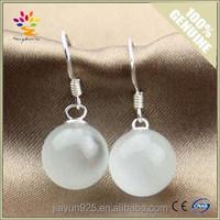 Fashion Ladies Design Opal Earrings Wholesale,Natural Opal Silver Dangling Drop Earrings,Cat Eyes Silver Drop Earrings