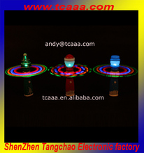 Top selling christmas led flashing spin ball stick new products