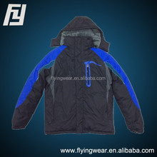 Men Winter Woven Waterproof Padded Jacket With Fake Fur