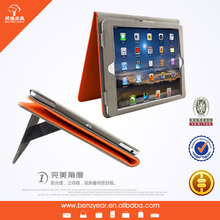 2014 hot sell genuine leather tablet keyboard case for Ipad2 ,3 ,4 ,5 cover holder