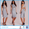 Hot latest silver satin multiway dresses fashion girl's sexy bodycon wrap dress