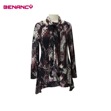 women casual fashion new design scarf blouse different types of tops