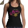 Alta calidad softball mamá camiseta rhinestone personalizado para las mujeres