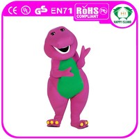 HI CE Promotional soft plush adult top sale barney mascot costume