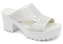Wedge slipper lady flat sandals women high wedge thick heel sandal