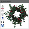 plastic artificial red berries christmas wreath