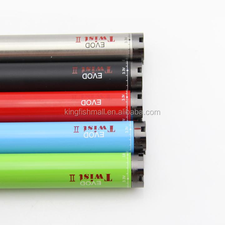 Rechargeable vape pen battery Variable Voltage Evod Twist battery
