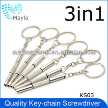 KS03 top quality 3 in 1 screwdriver with hex, slotted, philips head