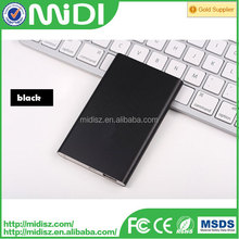 2015 High quality ultra slim portable mobile phone power bank 8000mAh for all smart phones