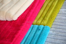 Soft Polyester Solid Long Hair PV Plush/cut brushed minky faux fur /plush balnket fur fabric