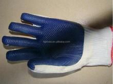 ecnomic style en388 palm logo blue latex rubber safety work hand gloves