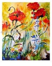 handmade decoration flower oil painting on canvas