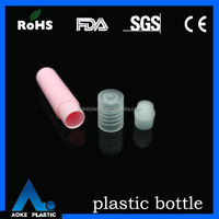 cosmetics packaging 5ml empty plastic colored eye cream roll on bottles wholesale