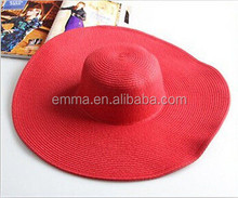 2015 hot sale red straw hat not expensive crochet straw hat for sale HT8339