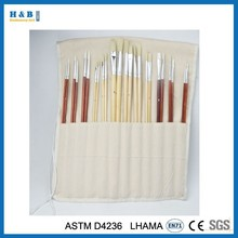 24 pieces short wooden handle artist brush