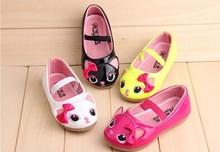 gato de cuero genuino bowknot plana chica del bebé zapatos