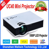 2015 Original UC40 Mini Pico portable Projector with USB HDMI For Home Theater beamer multimedia proyector