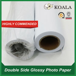 Lucky double-side glossy photo paper rolls 280g for large format printer HP Epson Canon Factory supply
