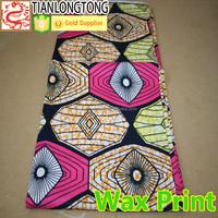 dashiki African super wax print 100% cotton fabric fashion dress or shirt