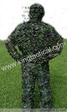 Ghillie traje, traje de camuflaje, ropa de caza, camo de bush