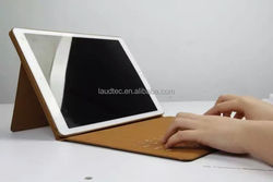 brand quality new arrival bluetooth keyboard leather Case Color for iPad pro