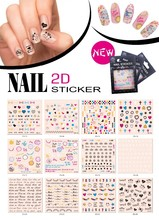 2D design nail sticker,nail wraps ,nail decals.sticker for nails