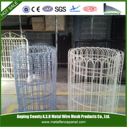 PVC coated decorative wire garden fence