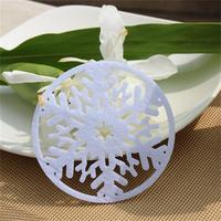 White and red snowflake design Christmas felt coasters made in China