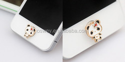 Charming black eye panda for iPhone home button key stickers