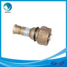 IP56 round 2-pin 3-pin 4-pin 10A 16A brass marine power plug CTH101