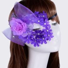 Wholesale Hot Fashion Lady Purple Lace Half Face Masquerade Masks