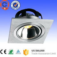 Free shipping United States square 1x4 led troffer 7w led cob grille ceiling light with universal adjustment of frame