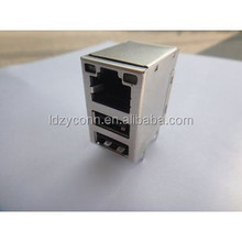 hot sales dual SUB dip single port RJ45 connector high quality