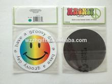 custom shape logo paper fridge magnet
