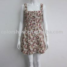 2012 ladies' floral yellow summer garden dresses