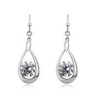 OUXI peacock tear shaped white 925 sterling Silver&crystal cheap diamond jewelry for engagement Y20062