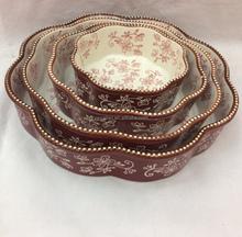 stock porcelain handmade bakeware dishes,oven safe,baking dish