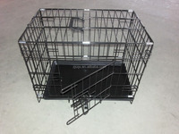 double doors foldable steel wire dog cage