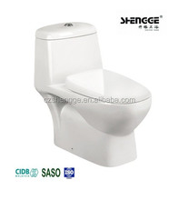 FCL/LCL anti deformation economic one piece ceramic toilet