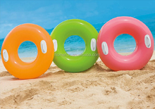 inflatable swimming ring with handle