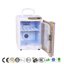 Simple design ABS 20 liters hotel mini chest freezer transparent door with LED display