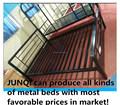 Queen size de hierro forjado singel camas / hierro cabecero