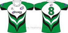Healong Dye-Sublimation Printing 3D Sublimation Fluorescent Rugby Shirt