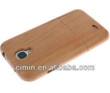 2013 wholesale new products bamboo/wooden case for samsung galaxy s4