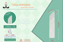 Cheap Tattoo Needles Sterilized Gamma Rays #17 Curve Needle,Best Microblading Needles