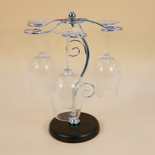 Explosion models selling wrought iron metal upside down cup holder wine goblets rack Drain tree ornaments Life mini-bar