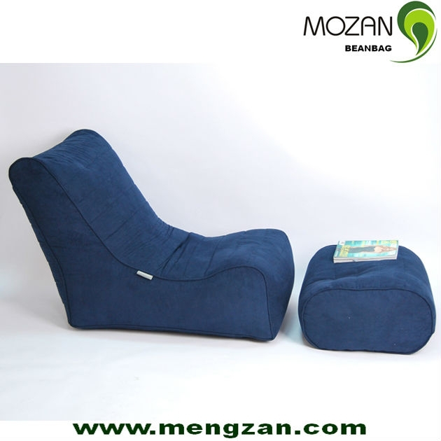 Mozan bean bag modern home chaise loung sofa with an for Bean bag chaise lounge