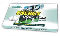 Sugar free Chewing Gum Xylitol Caffeine energy boost